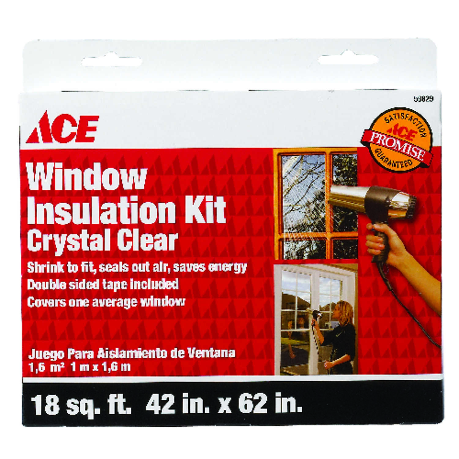 Ace  Clear  62 ft. L x 18 in.  For Air Conditioner Window Insulation Kit  Plastic