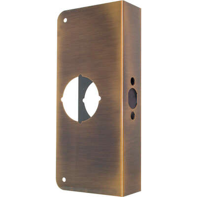 Prime-Line  9 in. H x 3-7/8 in. L Antique Brass  Brass  Door Reinforcer