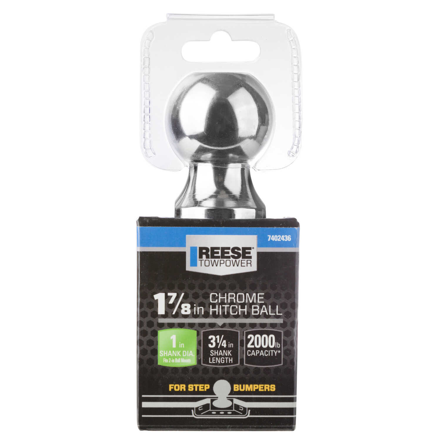 Reese  Towpower  Forged Steel  Standard  1-7/8 in. Trailer Hitch Ball