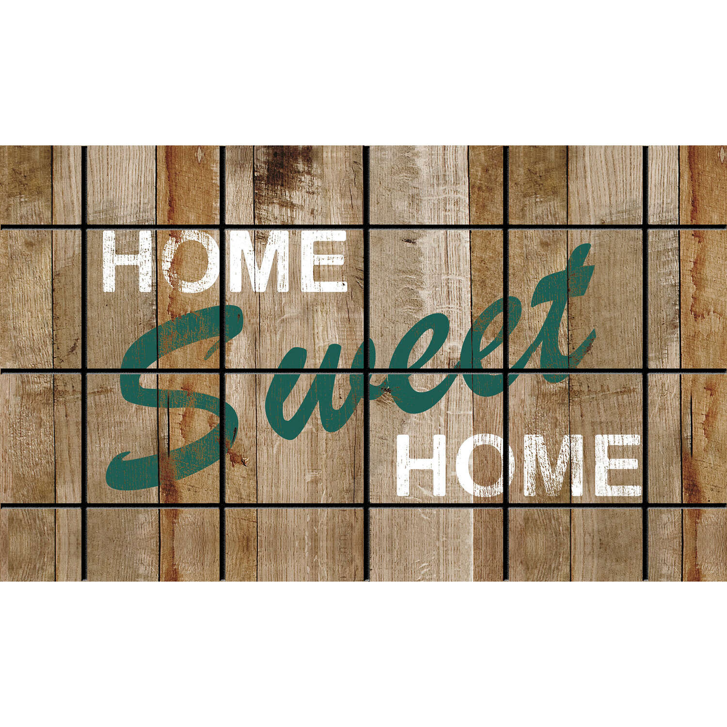 Sports Licensing Solutions  Home Sweet Home  Multicolor  Nylon  Nonslip Floor Mat  30  L x 18  W