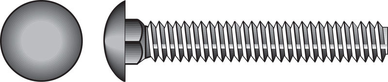 HILLMAN  5/16  Dia. x 2-1/2 in. L Zinc-Plated  Steel  Carriage Bolt  100 pk