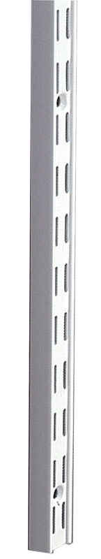 Knape & Vogt  White  White  Steel  14 Ga. Heavy Duty Shelf  Bracket  11/16 in. H x 1-1/16 in. W x 63