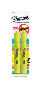 Sharpie  Accent  Neon Color Yellow  Chisel Tip  Highlighter  2 pk