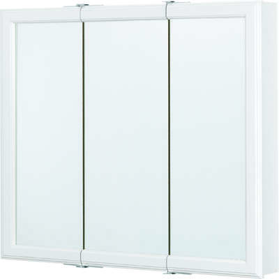 Continental Cabinets  28.625 in. H x 30 in. W x 4.44 inch in. D Square  Tri-View Medicine Cabinet  S