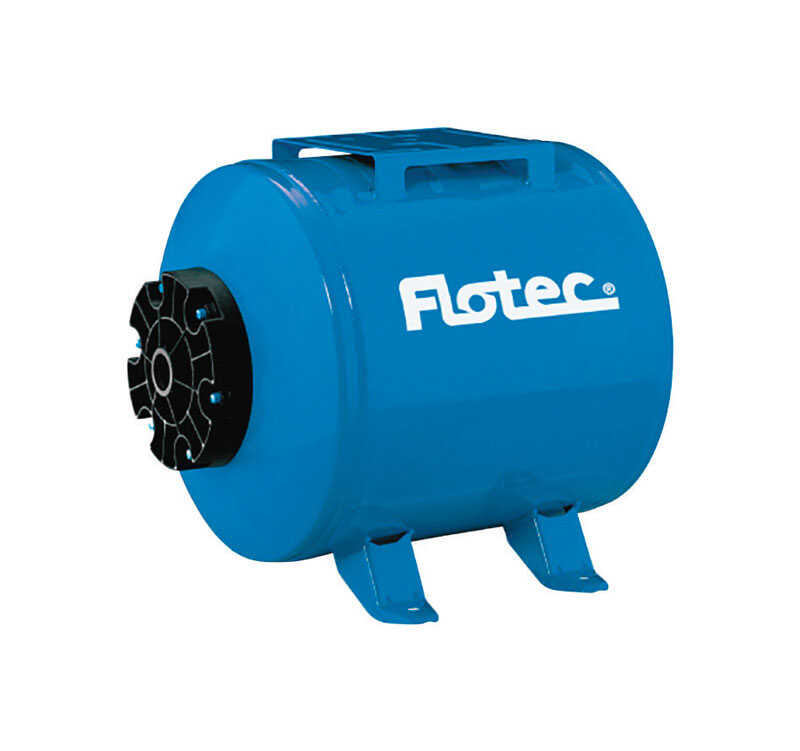 Flotec  Parts 2O  6 gal. Pre-Charged Horizonal Pump Tank  NPT