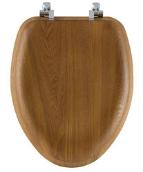 Bemis  Mayfair  Elongated  Oak  Wood  Toilet Seat