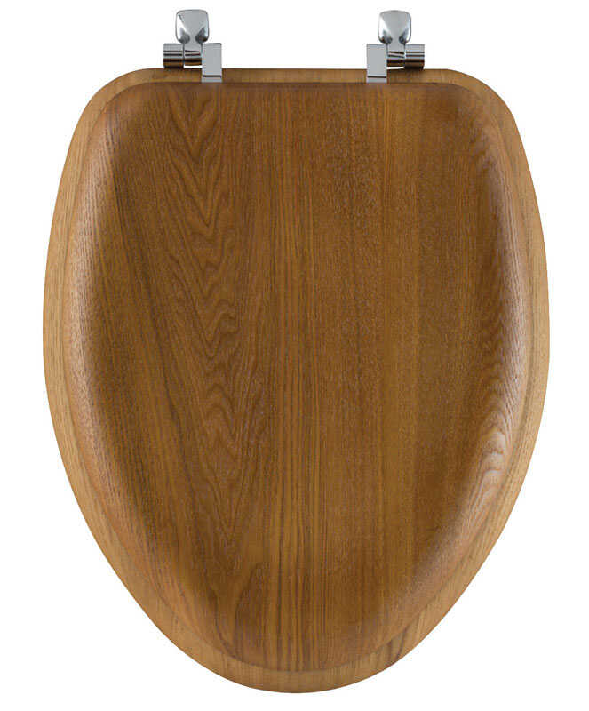Bemis Mayfair Elongated Oak Wood Toilet Seat - Ace Hardware