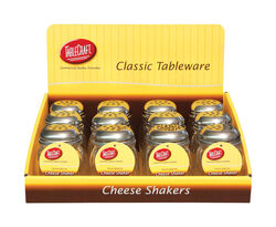 Tablecraft  Clear  Glass/Steel  Cheese/Spice Shaker