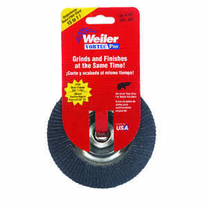 Weiler  Vortec Pro  4-1/2 in. Dia. x 7/8 in.  Zirconia  Type 29  Flap Disc  60 Grit 13000 rpm 1 pc.