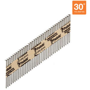 Paslode  RounDrive  30  16 Ga. Ring Shank  Straight Strip  Framing Nails  2-3/8 in. L x 0.11 in. Dia