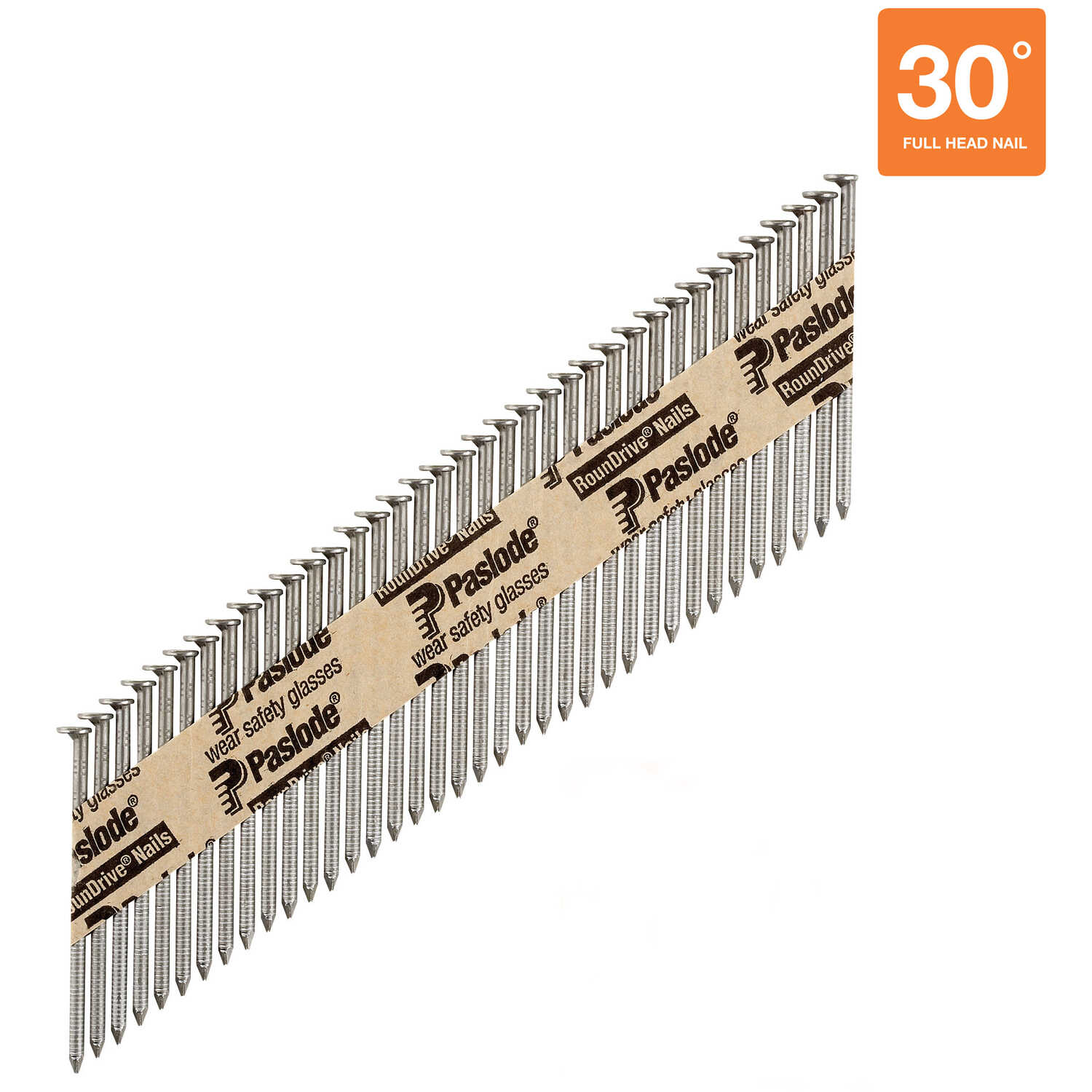 Paslode  RounDrive  30 deg. 16 Ga. Ring Shank  Straight Strip  Framing Nails  2-3/8 in. L x 0.11 in.