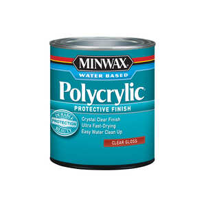 Minwax  Indoor  Gloss  Gloss  Polycrylic  1 qt. Clear