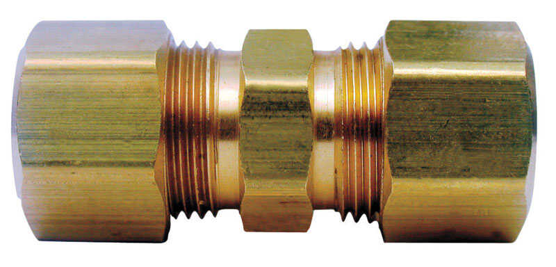 Ace  3/8 in. Dia. x 3/8 in. Dia. Compression To Compression  Yellow Brass  Union