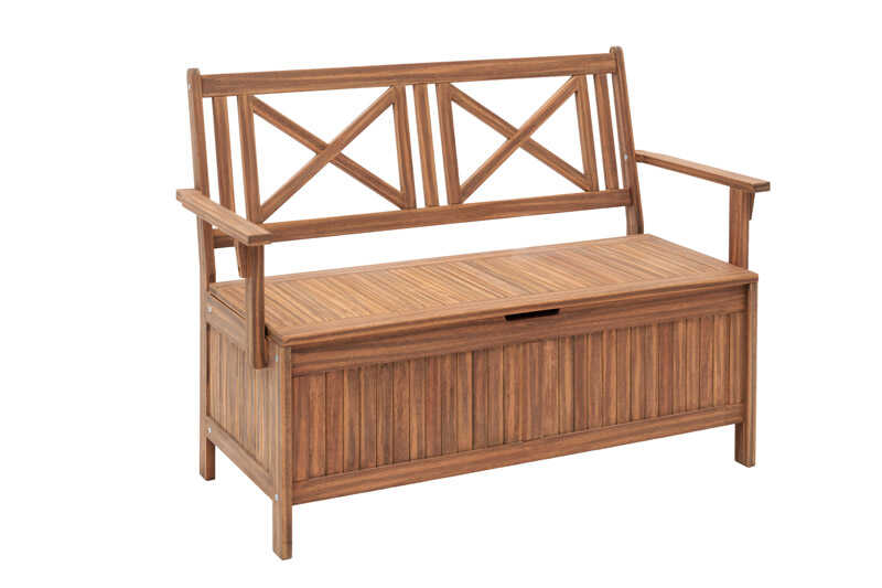 Jack Post  Crossback  Storage Bench  Wood  35.5 in. H x 23.75 in. L x 49.5 in. D