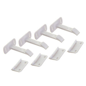 Dreambaby  White  Plastic Adhesive  Cabinet/Drawer Latches  4 pk