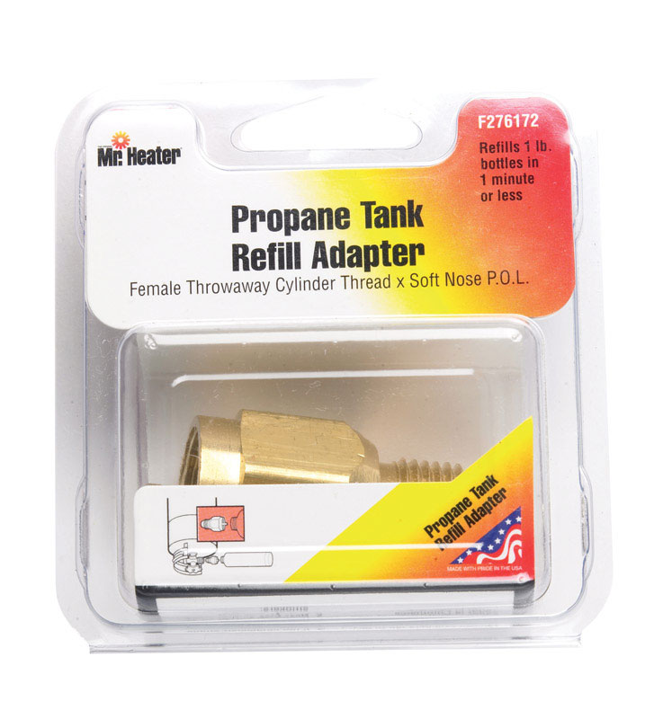 Mr. Heater  Brass  Refill Adapter