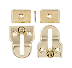 Ace  Metallic  Brass  Window Lock  2 pk