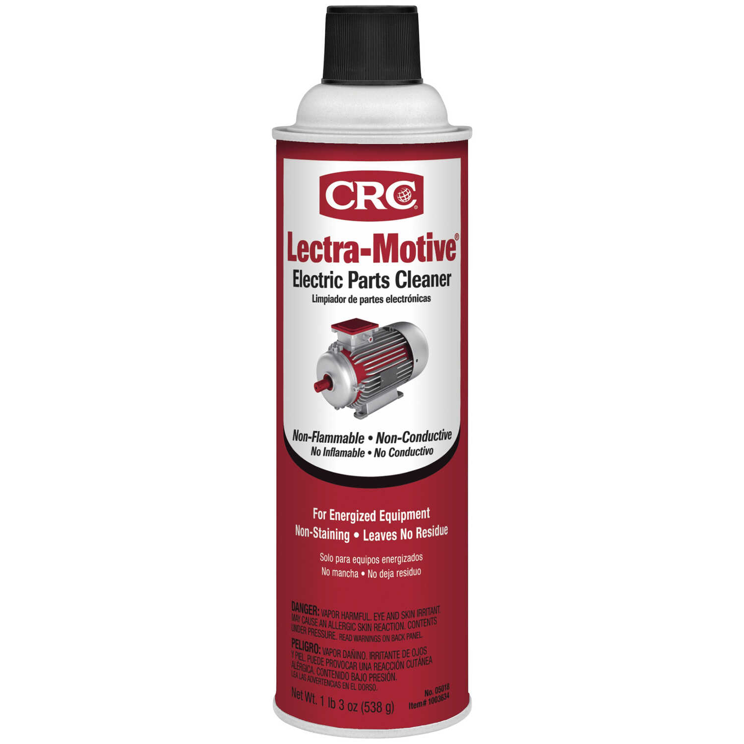 CRC  Lectra-Motive  Chlorinated Nonflammable Electrical Parts Cleaner  20 oz.