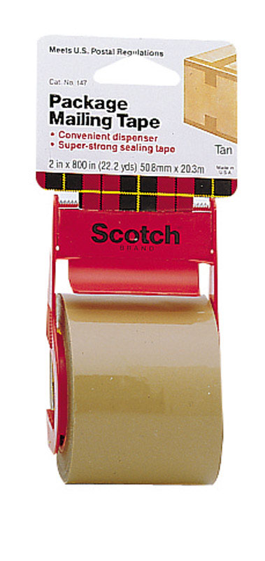 Scotch  2 in. W x 2 in. W x 800 in. L x 800 in. L Packaging Tape  Tan