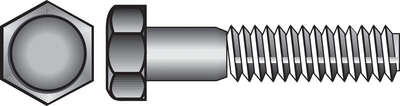 Hillman 1/4 in. Dia. x 2 in. L Zinc Plated Steel Hex Bolt 100 pk