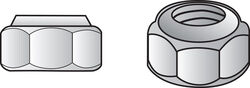 Hillman  #6-32  Zinc-Plated  Steel  USS  Nylon Lock Nut  100 pk