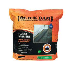 Quick Dam  3.5 in. H x 17 ft. L Flood Barrier  1 pk