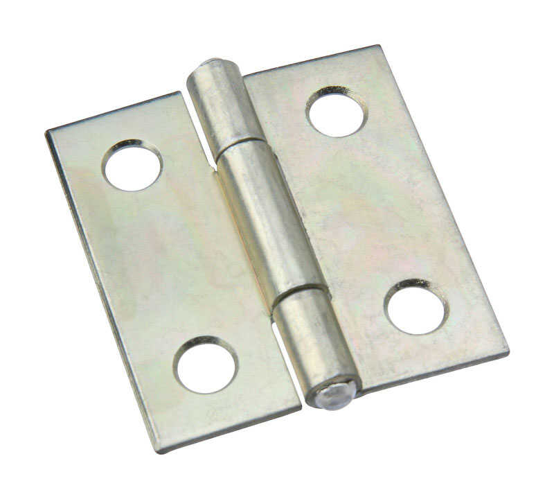 National Hardware  1-1/2 in. L Zinc Plated  Steel  Cabinet Hinge  1 pk