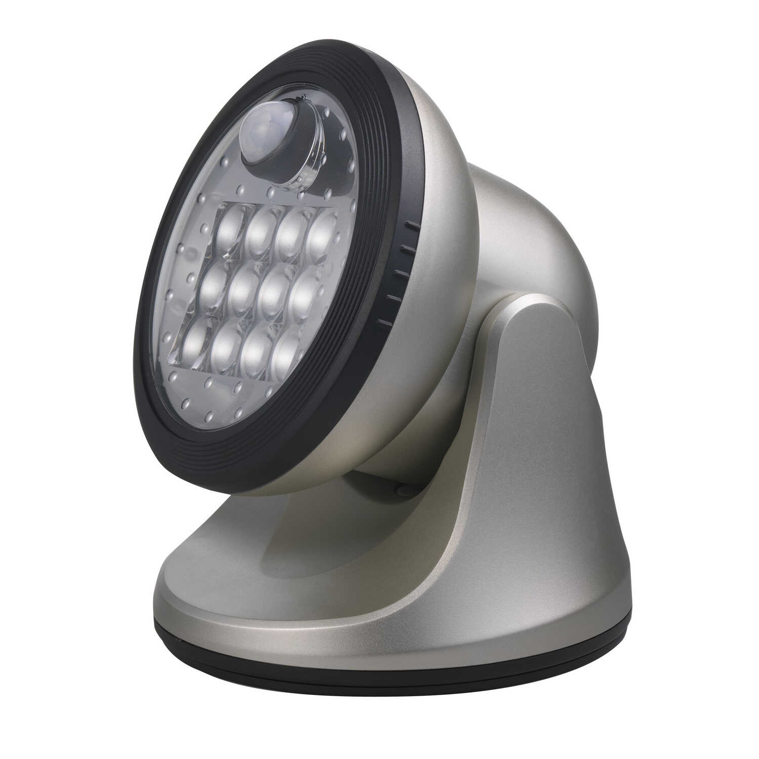 Fulcrum  LIGHT IT  Motion-Sensing  Silver  Battery Powered  Porch Light  Silver
