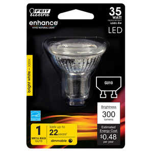FEIT Electric  4.1 watts MR16  LED Bulb  350 lumens Warm White  35 Watt Equivalence Reflector