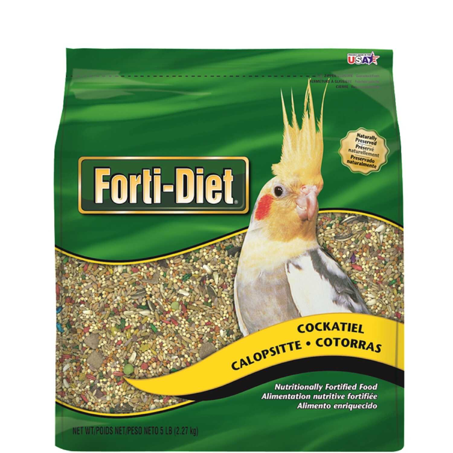 Kaytee  Forti-Diet  Cockatiel  Canary Grass Seed  Food  5 lb. Bird  Seed