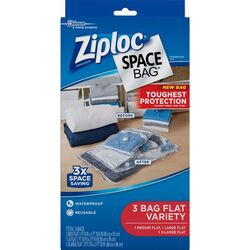 Ziploc  Space Bag  Various Sizes  Storage Bag  Clear