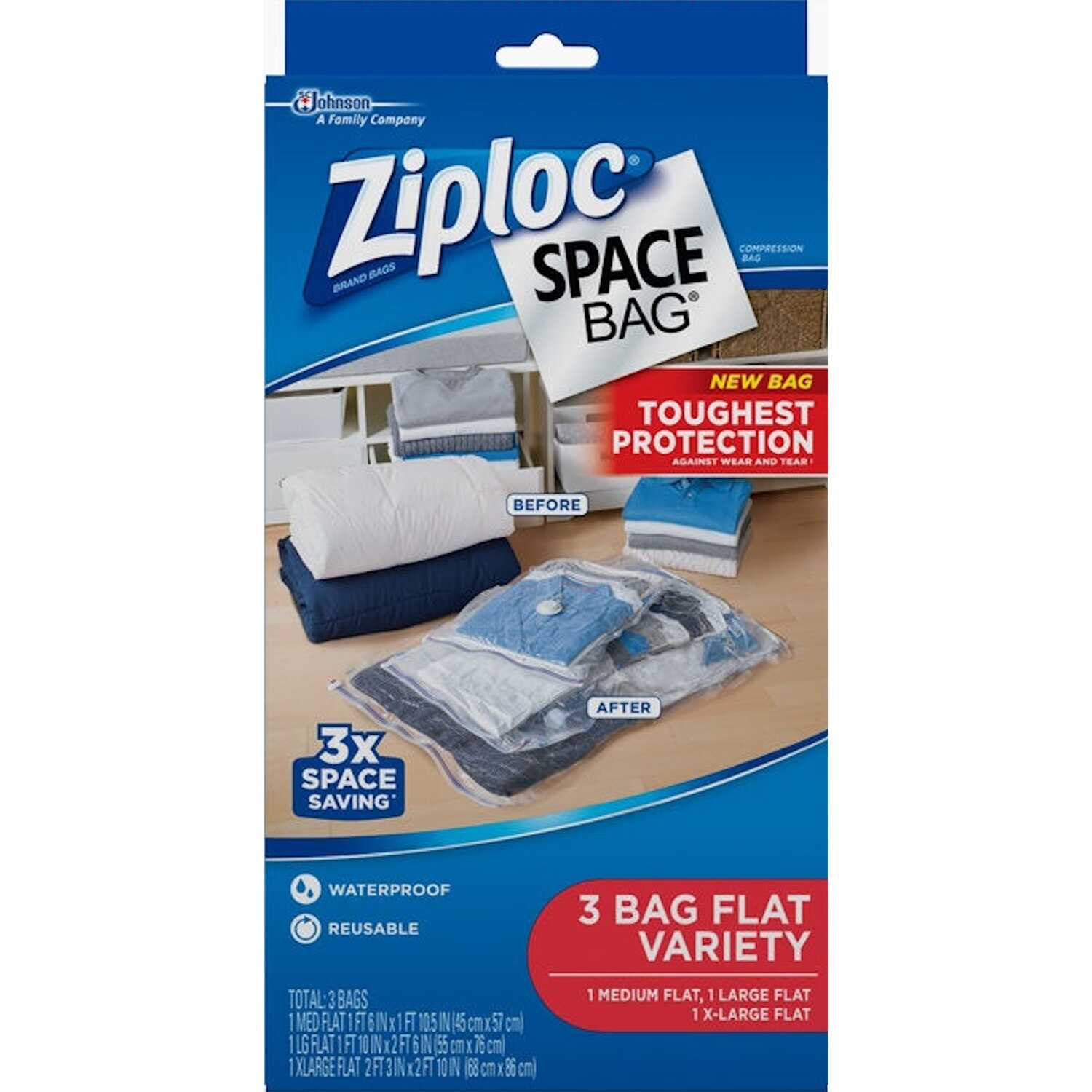 Ziploc  Space Bag  Storage Bag  Various Sizes