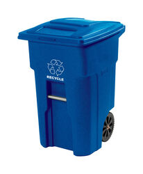Toter  32 gal. Polyethylene  Wheeled Recycling Bin  Lid Included