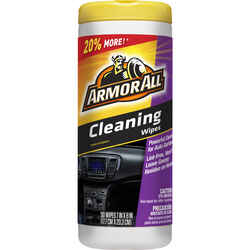 Armor All  Vinyl, Leather and Rubber  Cleaner  30 wipes Bottle