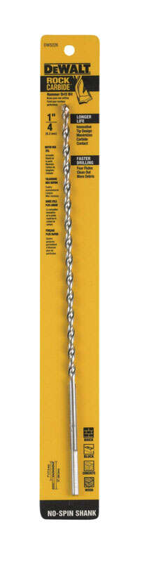 DeWalt  1/4 in.  x 12 in. L Carbide Tipped  Percussion  Drill Bit  1 pc.