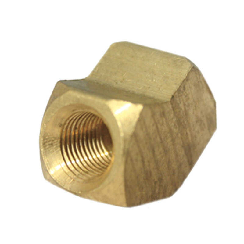 JMF  1/4 in. Dia. x 1/4 in. Dia. FPT To FPT To Compression  45 deg. Yellow Brass  Elbow