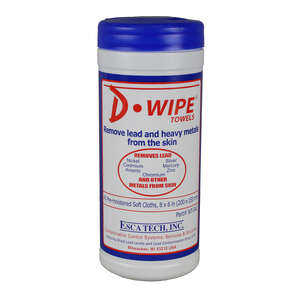 D-Wipe  Heavy Metal Remover  Cellulose  Cleaning Cloth  8 in. W x 6 in. L 40 pk