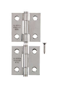 Ace  .95 in. W x 1-1/2 in. L Stainless Steel  Steel  Narrow Hinge  2 pk