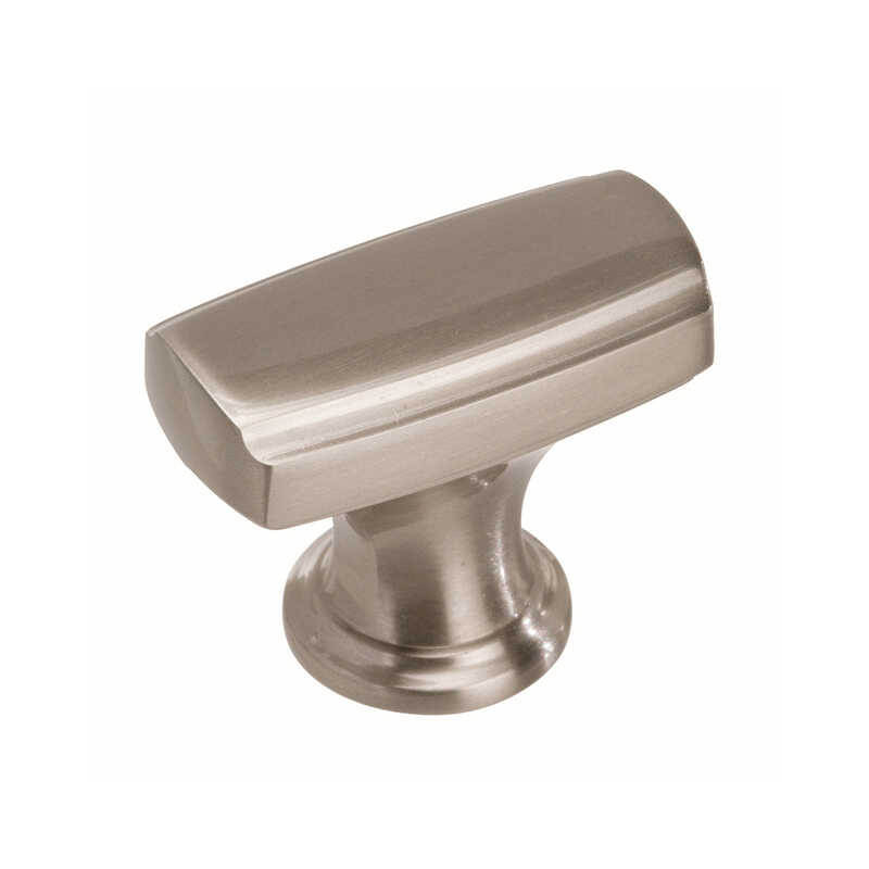 Amerock  1-3/8 in. L Highland Ridge Collection  1-1/8 in. Satin Nickel  1 pk Knob
