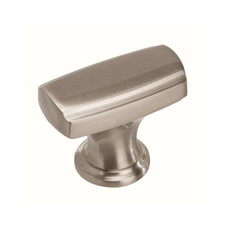 Amerock  Highland Ridge Collection  Round  Cabinet Knob  1-1/8 in. Dia. 1-1/8 in. Satin Nickel  1 pk