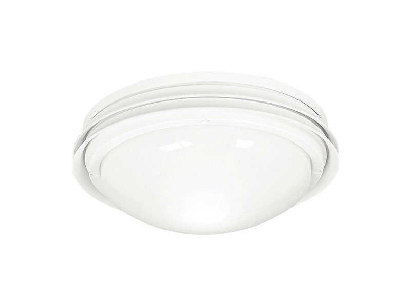 Hunter Fan  Marine II  White  Globe Ceiling Fan Light Kit  Semi-Gloss