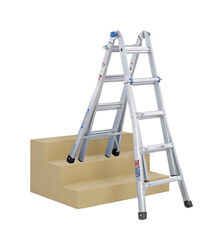 Werner  17 ft. H x 16 in. W Aluminum  Articulating Ladder  Type 1A  300 lb.