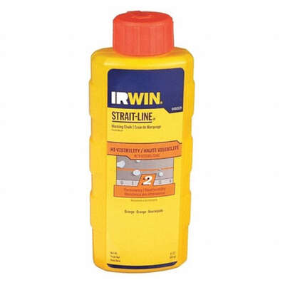 Irwin Strait-Line 8 oz. Permanent Marking Chalk Fluorescent Orange 1 pk