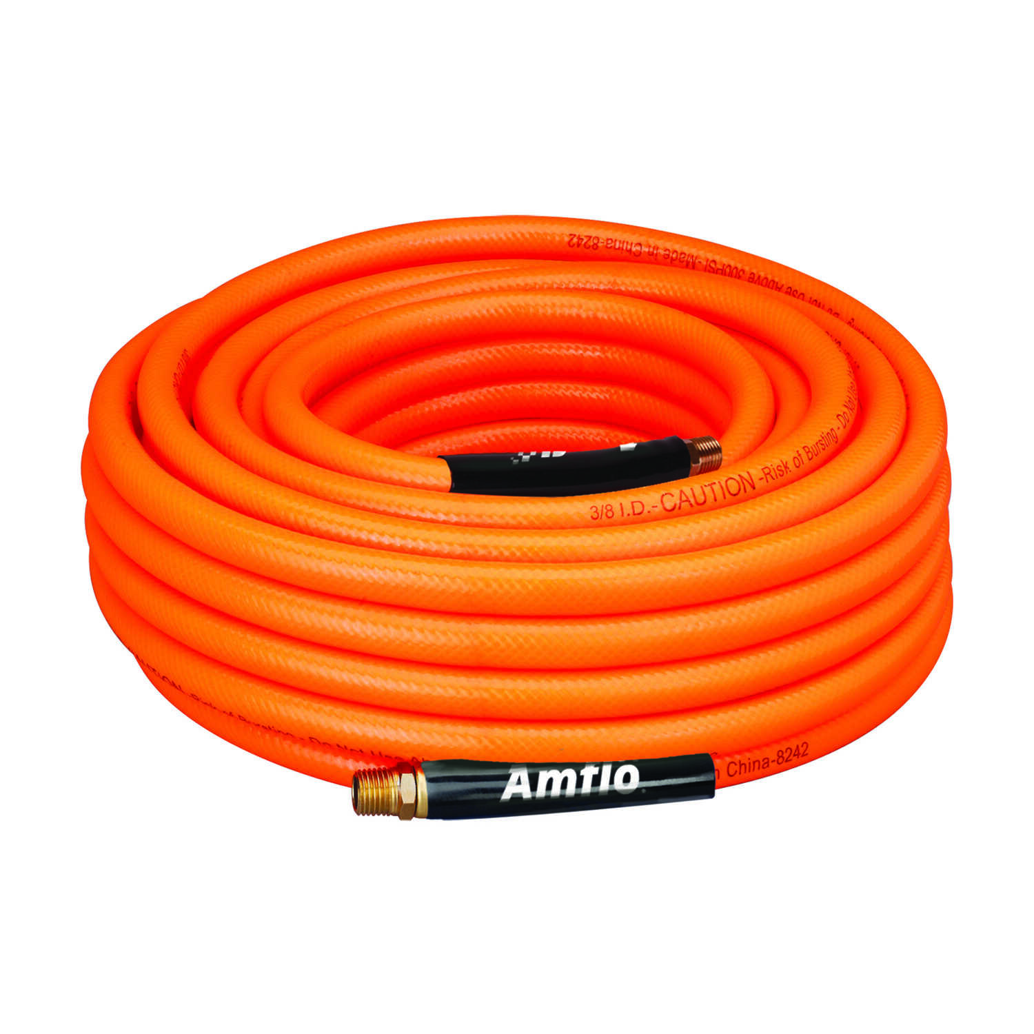 Amflo  50 ft. L x 3/8 in. Dia. Polyvinyl  Air Hose  300 psi Orange