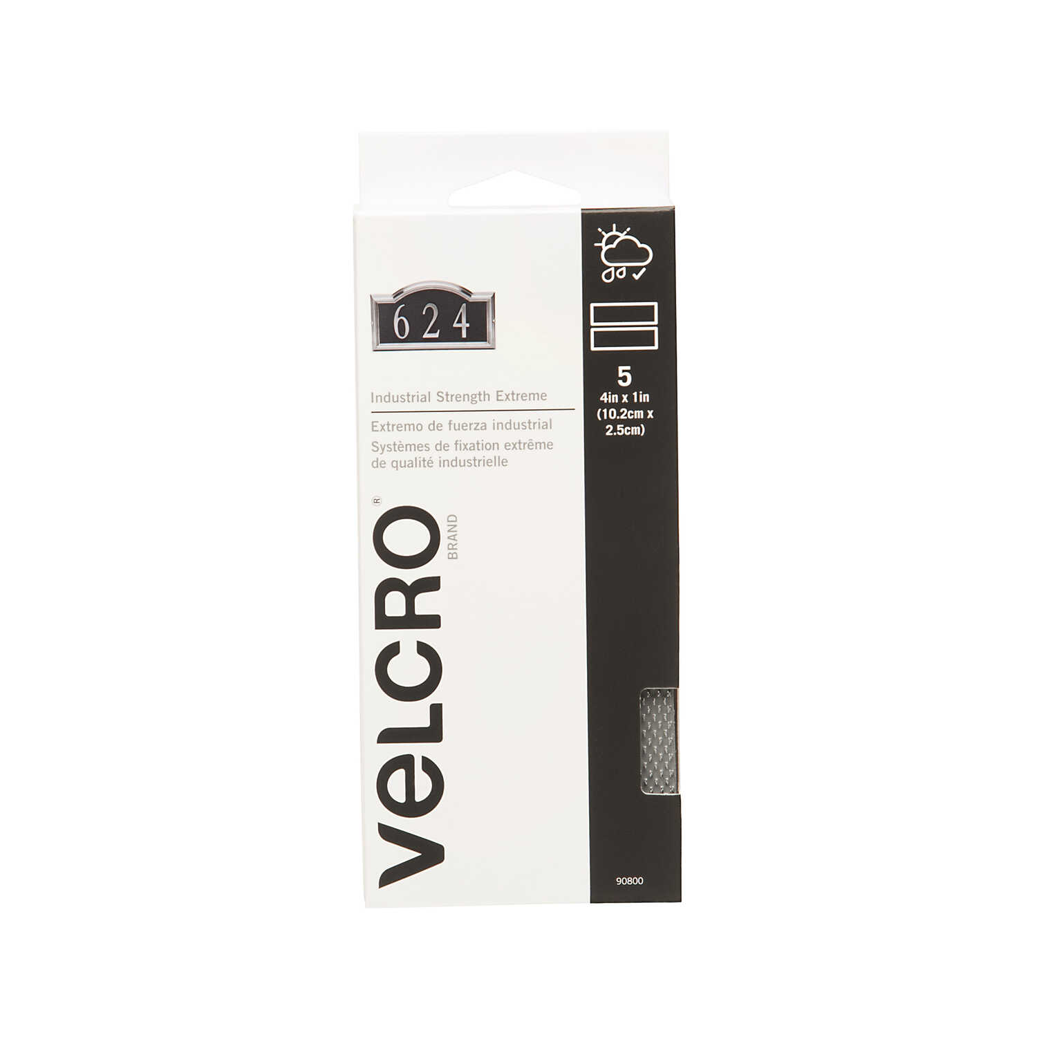 Velcro Brand  Hook and Loop Fastener  4 in. L 5 pk