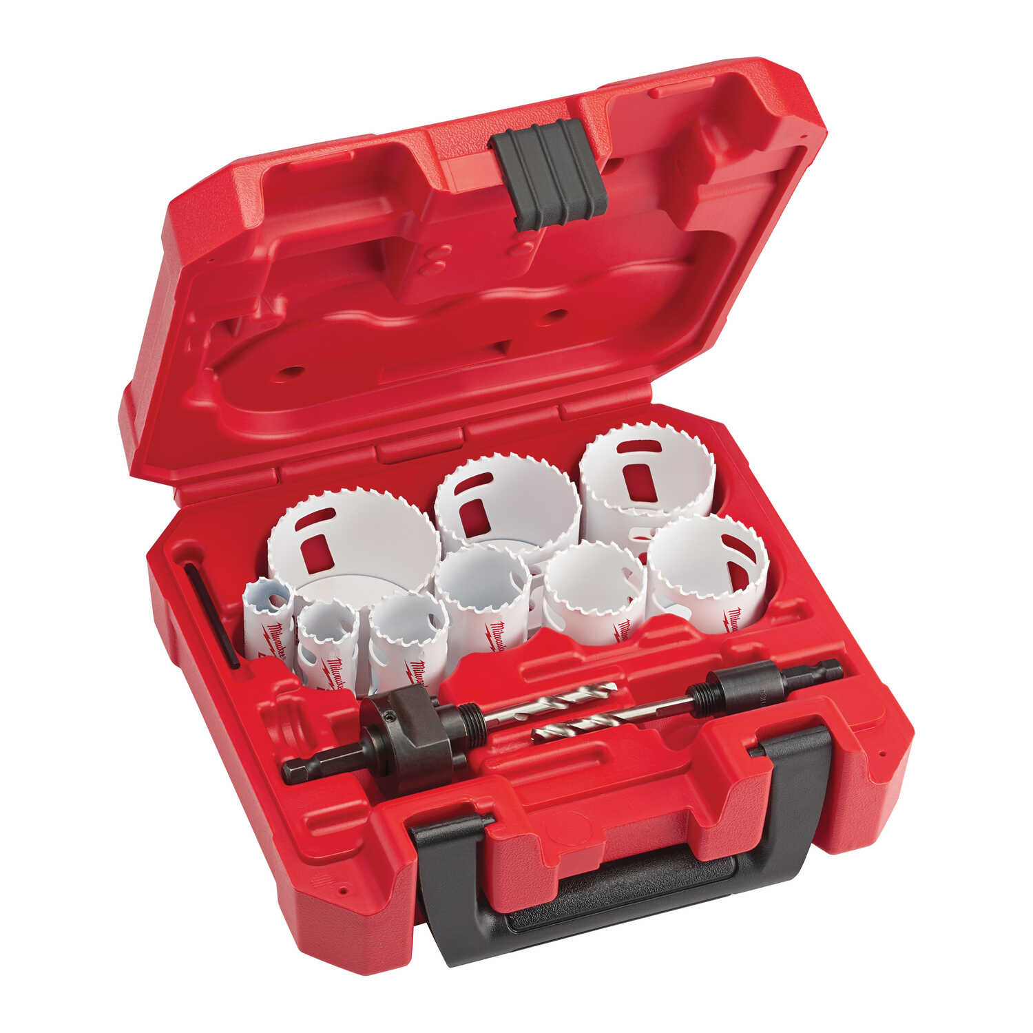 Milwaukee  Hole Dozer  Assorted in. Dia. x 3/4 in. L Bi-Metal  Hole Saw Kit  1/4 in. 13 pc.