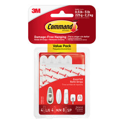 3M Command Assorted Foam Mounting Strips 3-3/8 in. L 12 pk
