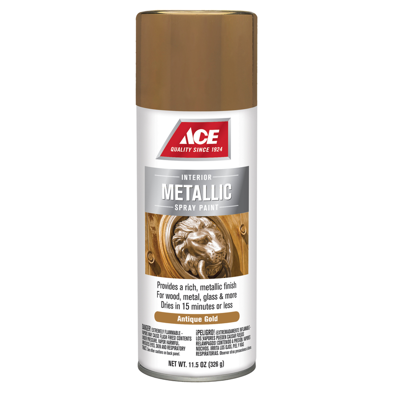 Ace  Brilliant  Spray Paint  Gold  11.5 oz.