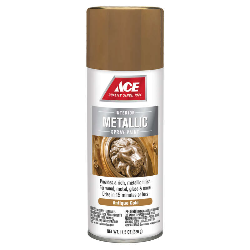 Ace  Antique  Gold  Spray Paint  11.5 oz.
