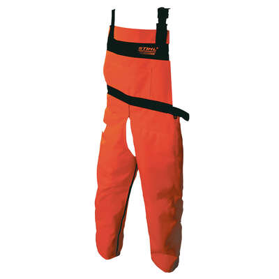 STIHL  Nylon  Skidder  Bib Overalls  Orange  L  1 pk